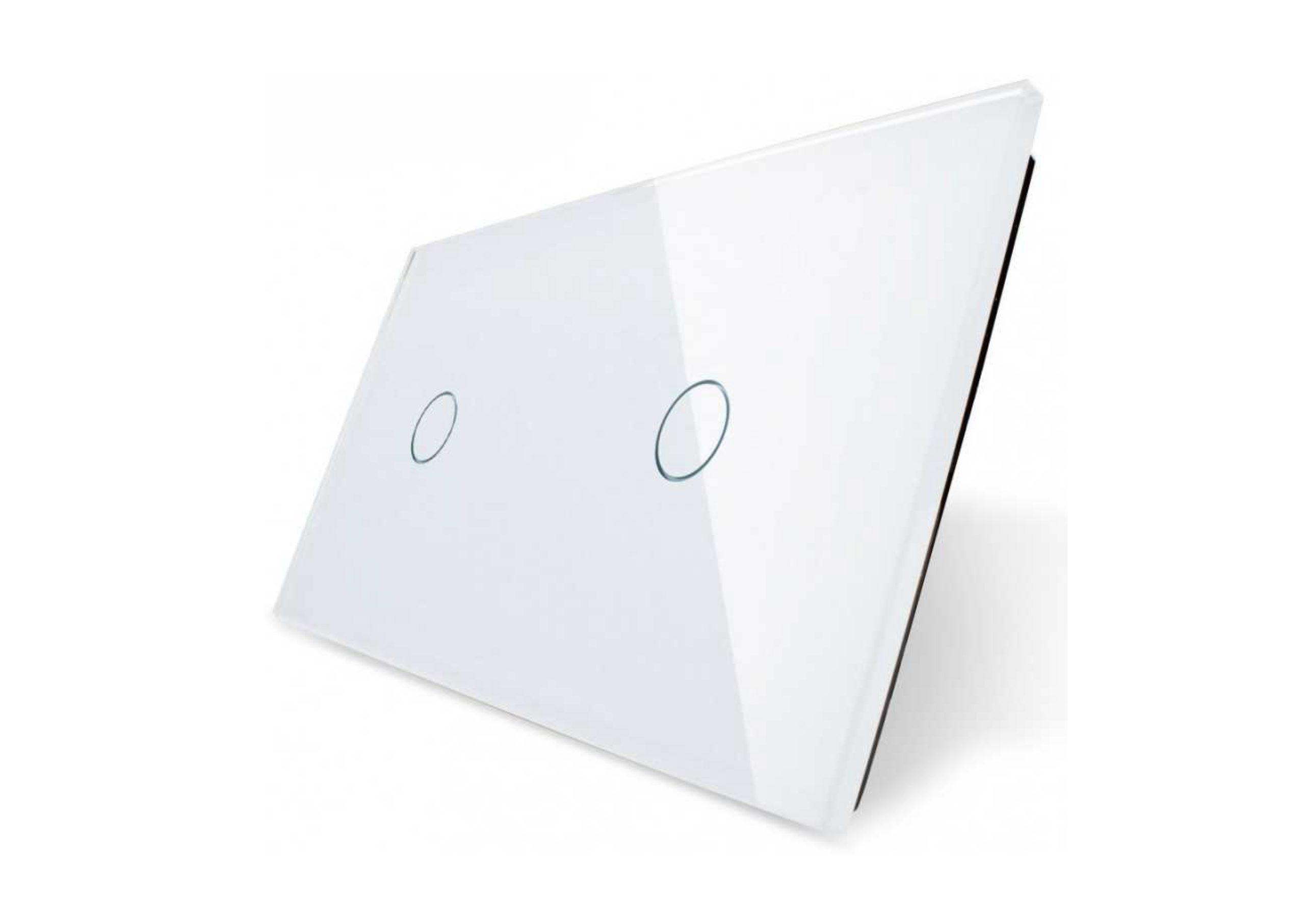 Pojedynczy + pojedynczy biały panel szklany_01