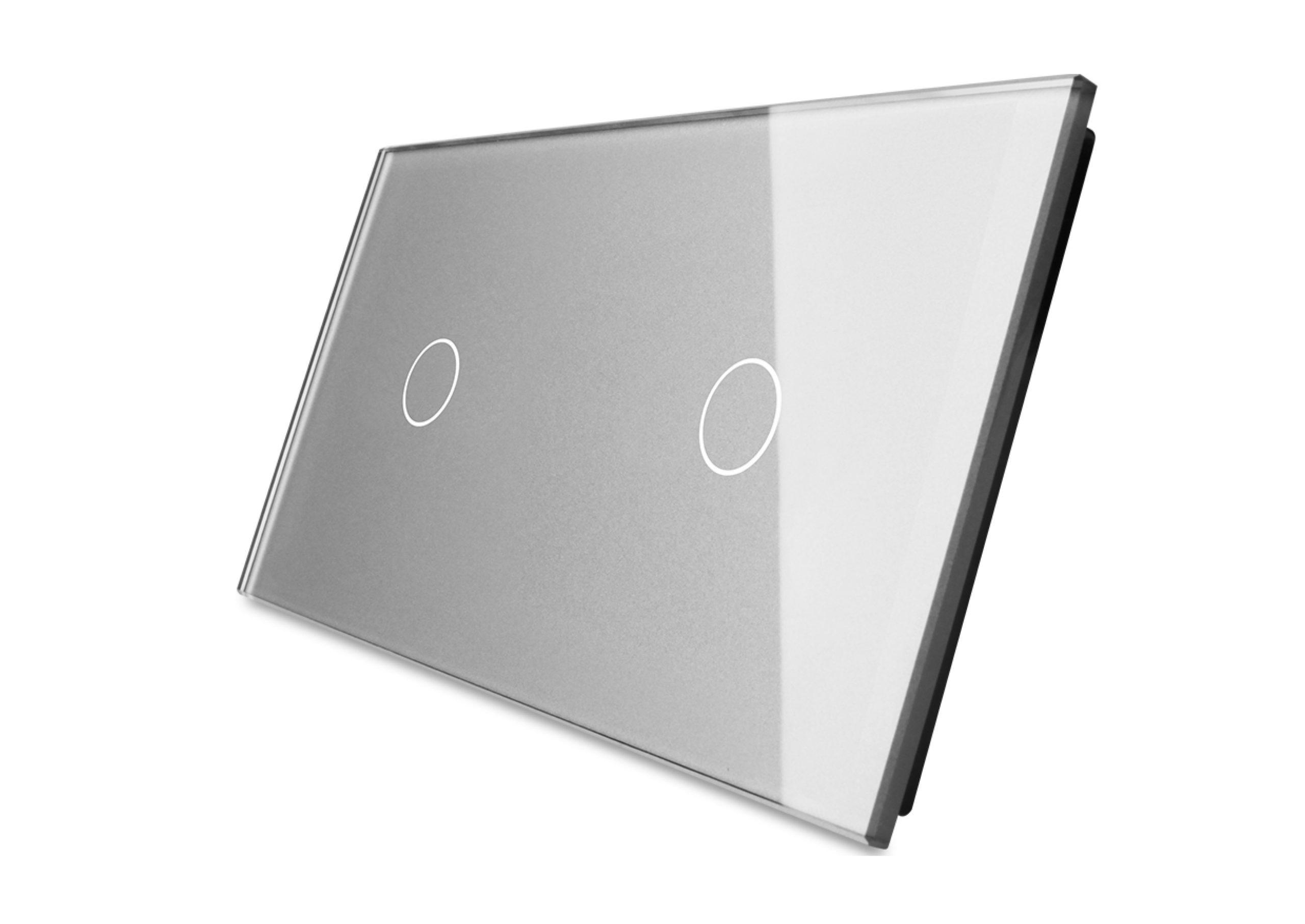 Pojedynczy + pojedynczy srebrny panel szklany_04