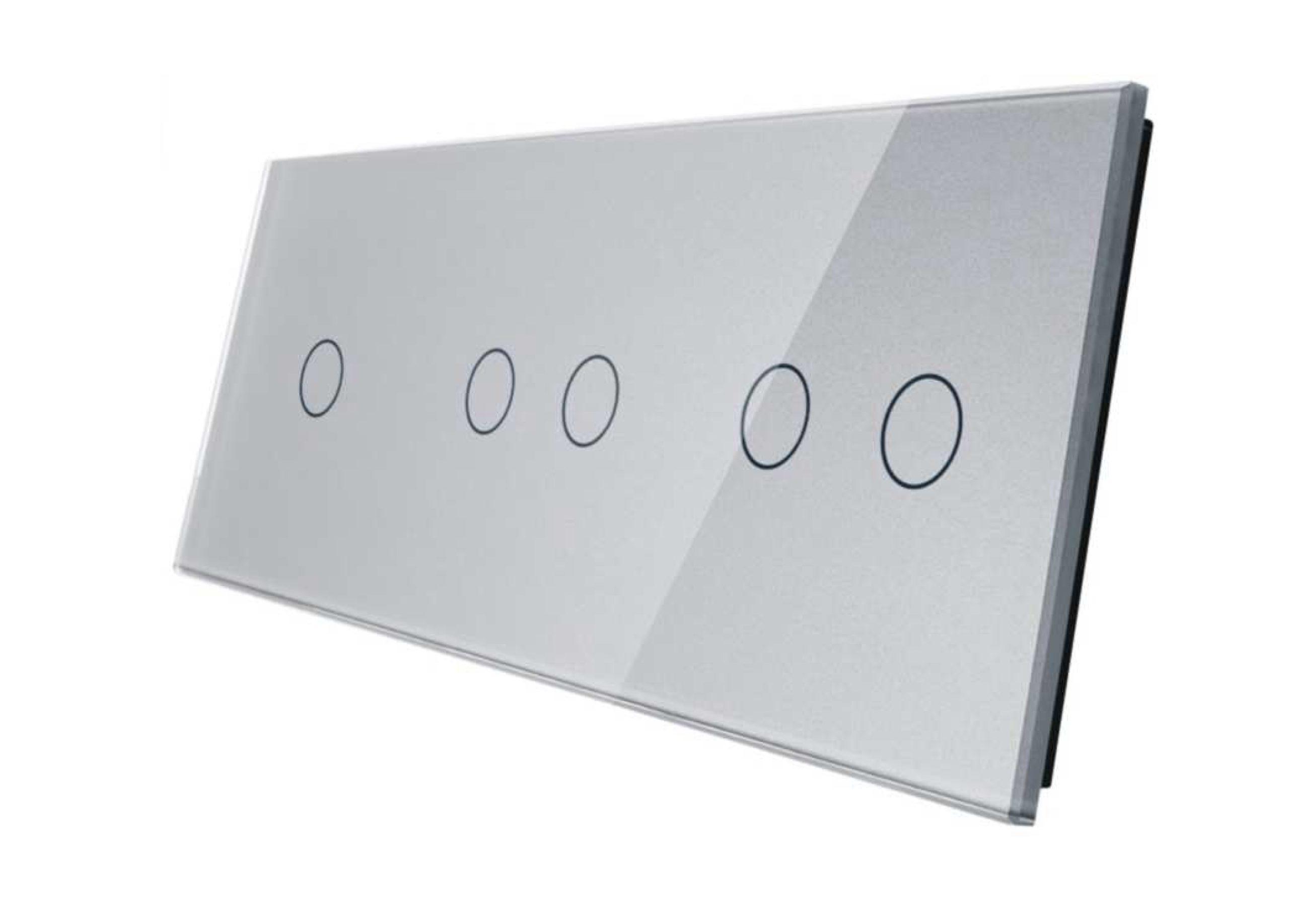 1+2+2 panel srebrny
