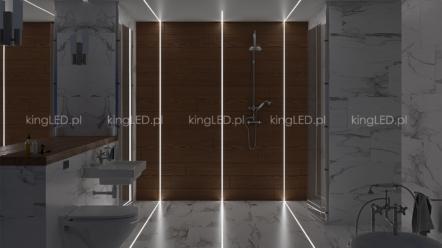 Profil LED do łazienki – podłogowy wodoodporny
