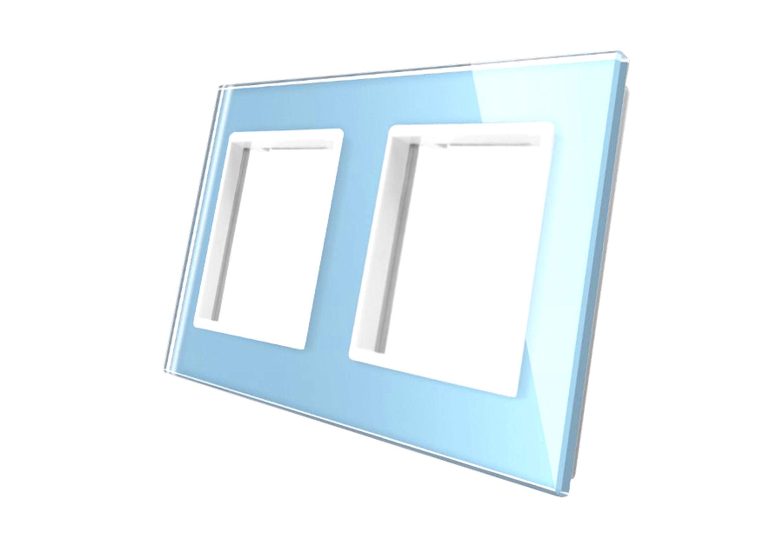 ramka podwójna niebieska